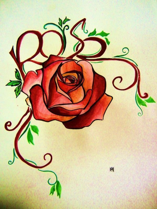 rose tattoo designs 6