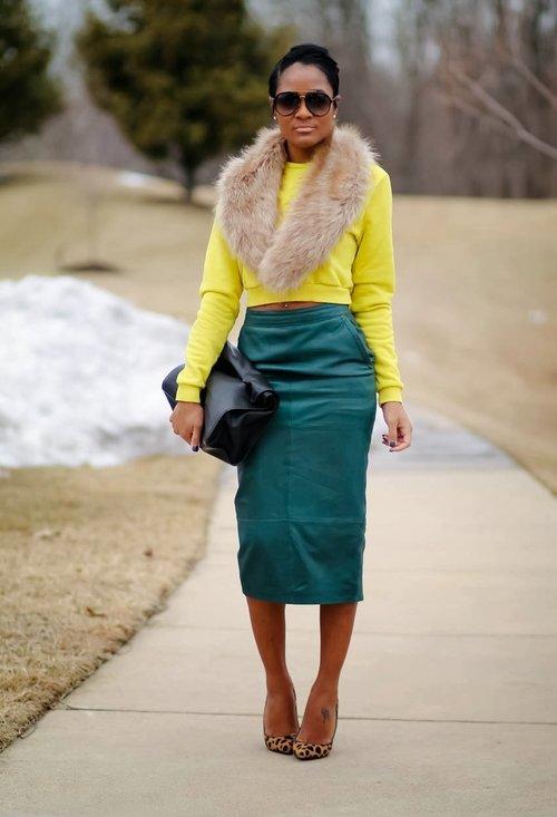 Stylish model, fashion, outfits, pencil skirt, woman, photography