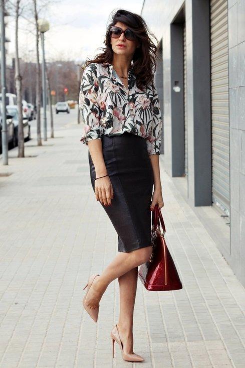 Stylish model, fashion, outfits, pencil skirt, woman, photoshoot