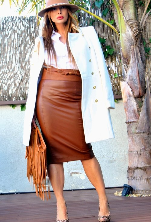 Stylish model, fashion, outfits, pencil skirt, woman, pics