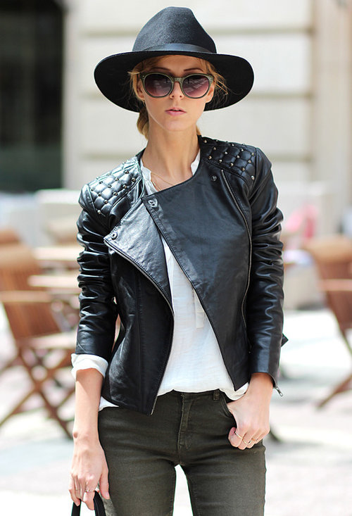 Stylish trendy hat, beautiful model, lady, image