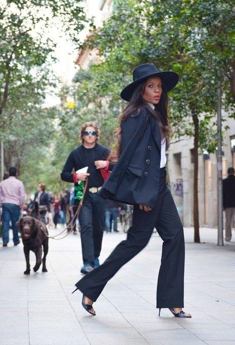 Stylish trendy hat, beautiful model, woman, picture