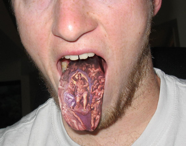 tongue tattoo 2