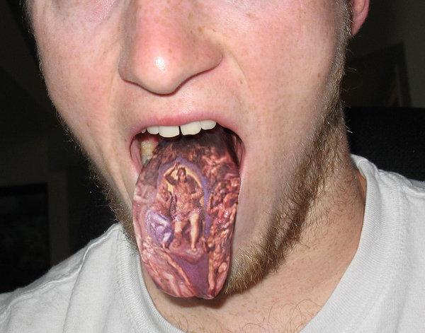 tongue tattoo 2