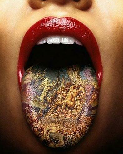 tongue tattoo 3