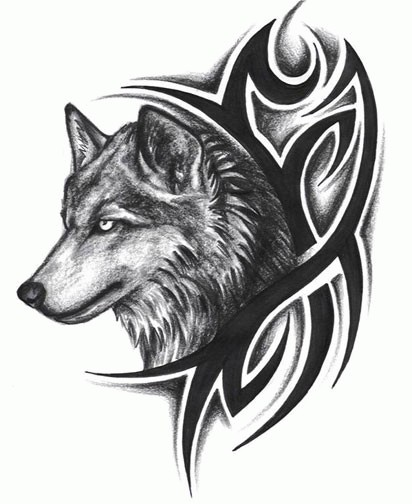 wolf tattoo designs 4