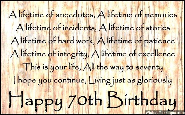 70th birthday quotes 3