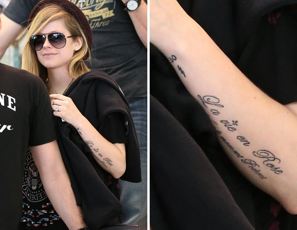 avril lavigne tattoo 1