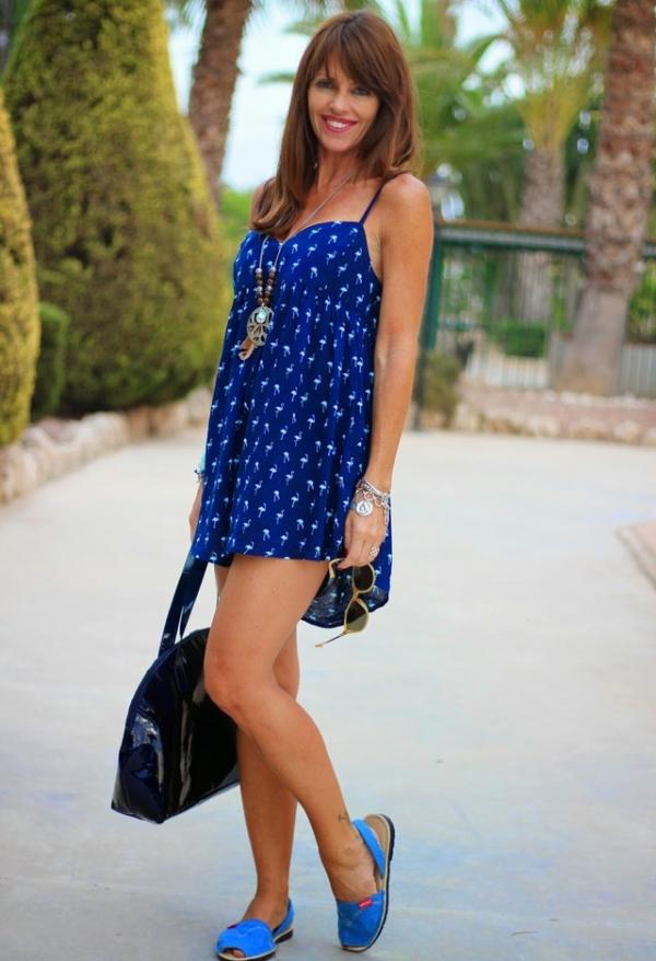 Blue dress for ladies