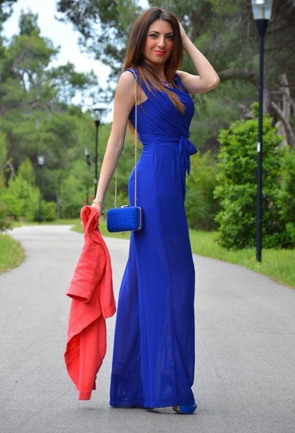 Blue summer dress for ladies