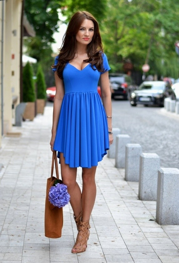 Blue summer dress for women