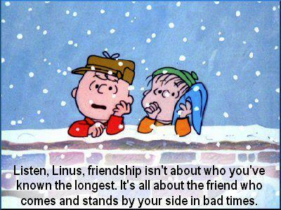 charlie brown friendship quotes