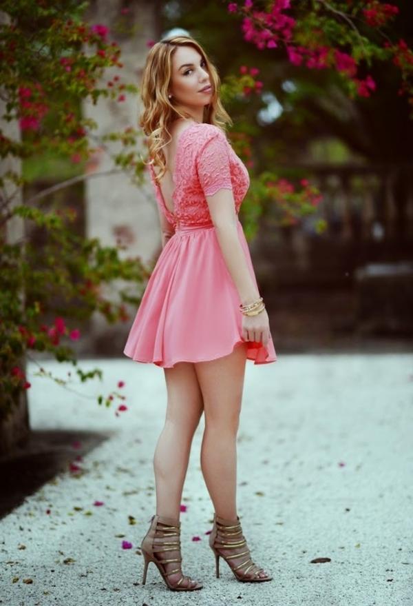 Cute pink dress for women