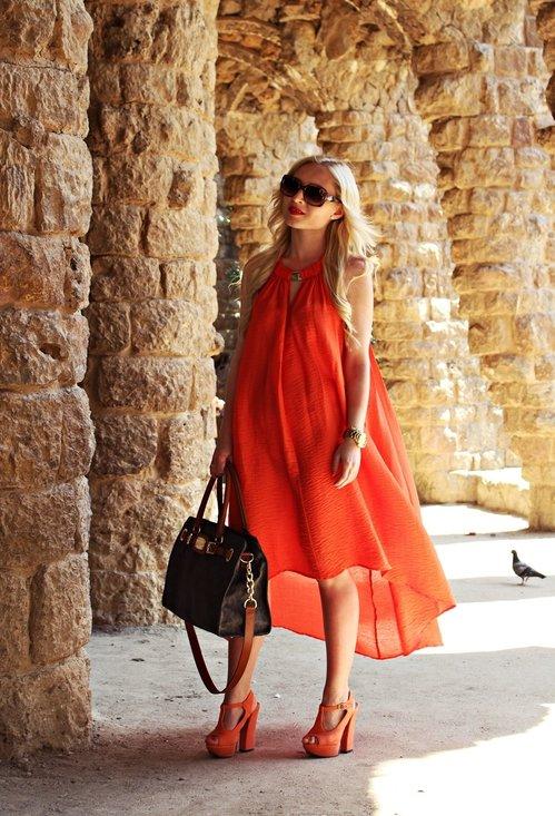 Orange dress for girls