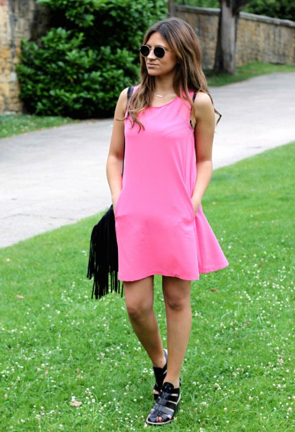 Pink summer dress for girls