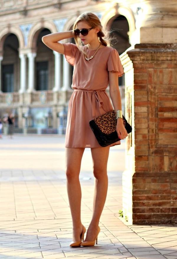 Pink summer dress for women