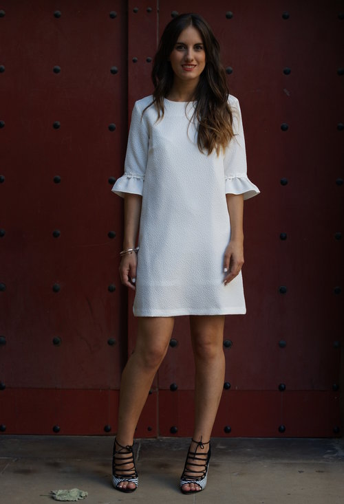 White dress for lady