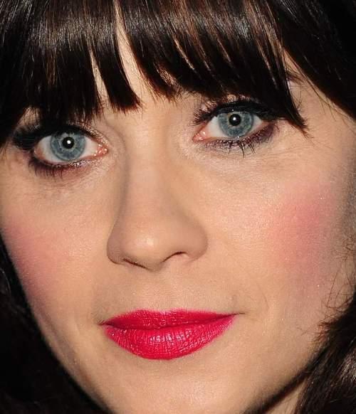Zooey deschanel eye makeup