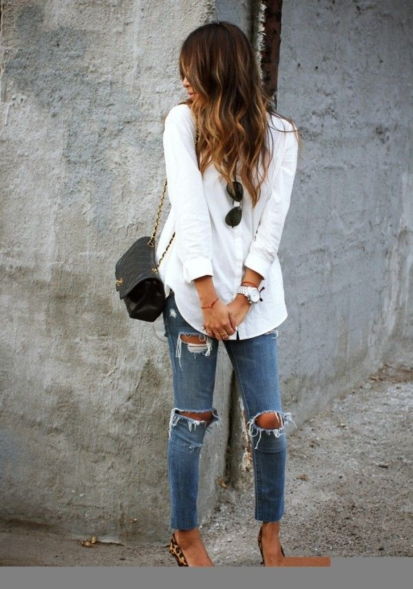 Cute white shirt for lady