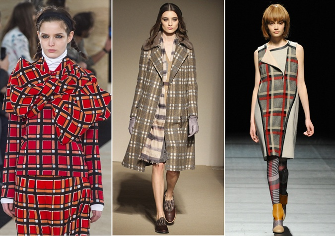 Tartan with shades of red, blue, green and black
