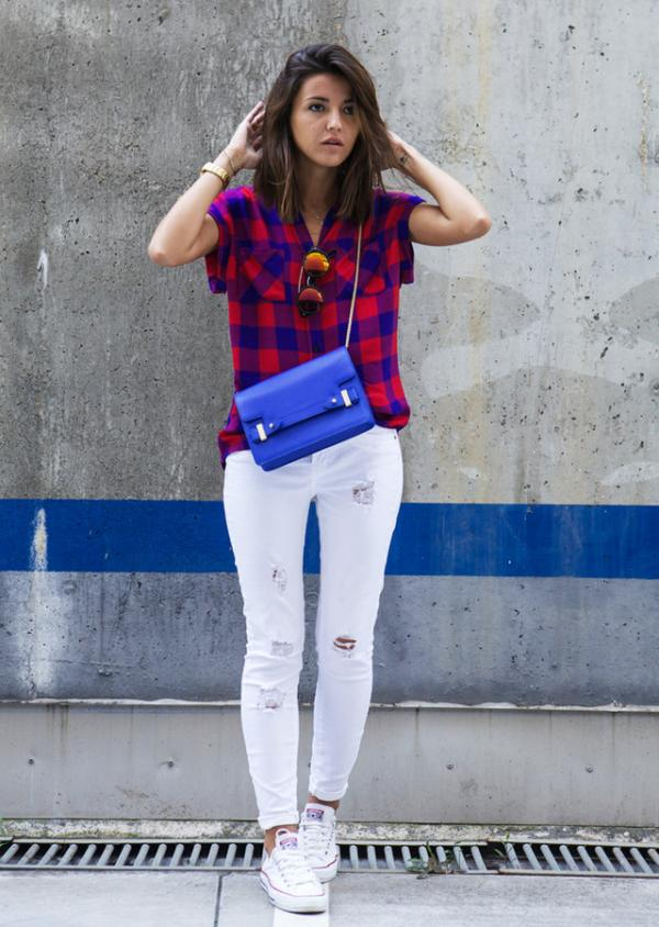 Beautiful blue bag for pretty girls