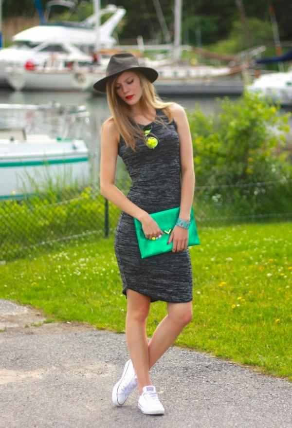 Beautiful green bag for pretty lady