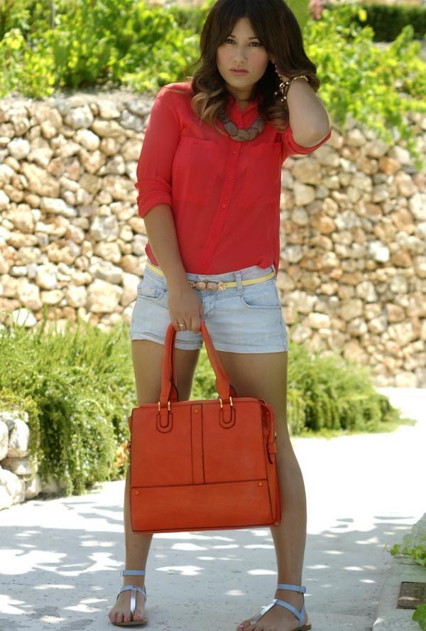 Beautiful orange bag for girls