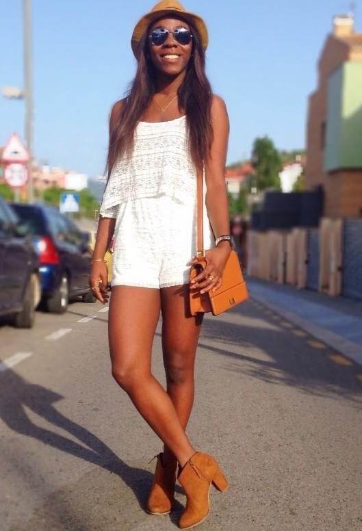 Beautiful orange bag for nice woman