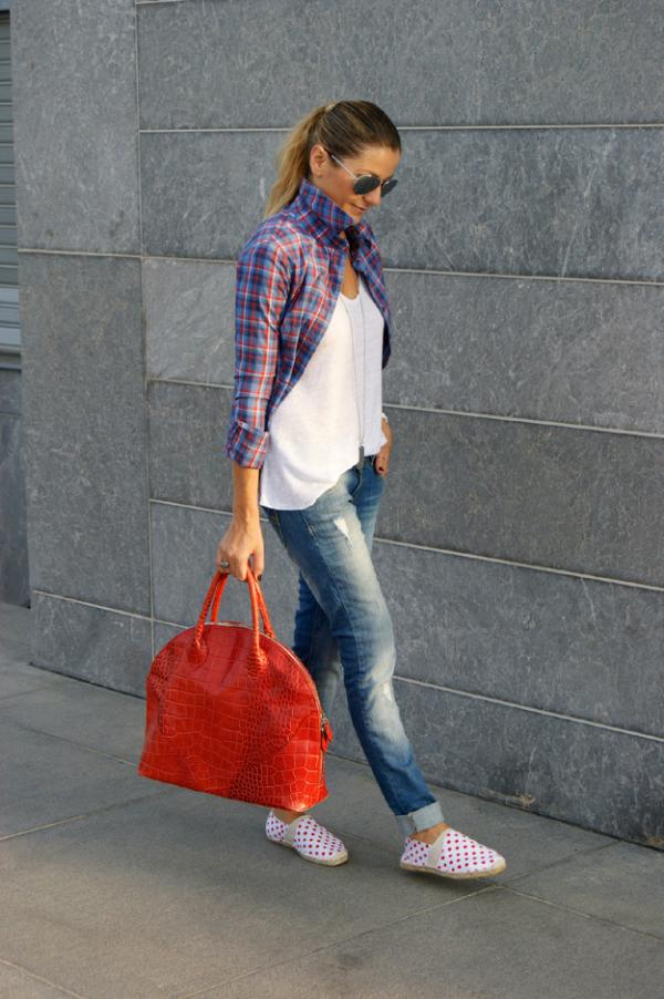 Beautiful orange bag for woman