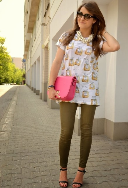 Pink bag for woman