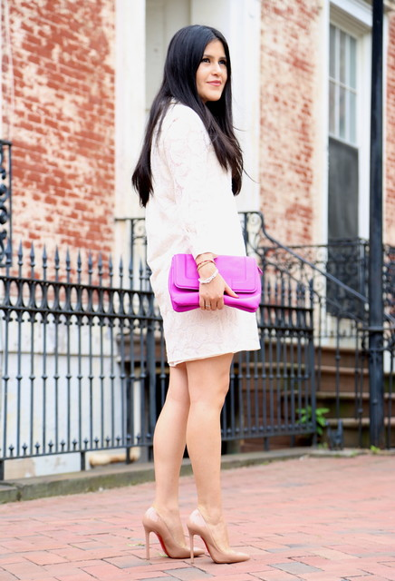 Stylish purple bag for woman