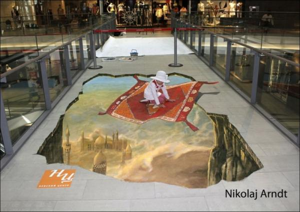 Three-dimensional street art, Nicholas Arndt, picture