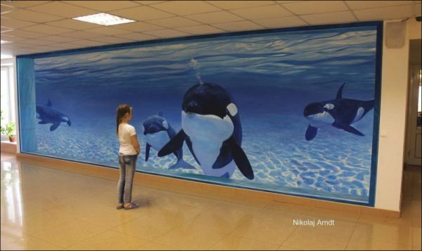 Three-dimensional street art, Nicholas Arndt, underwater