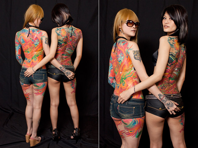 Exhibition of tattoos and body art in Sydney girls