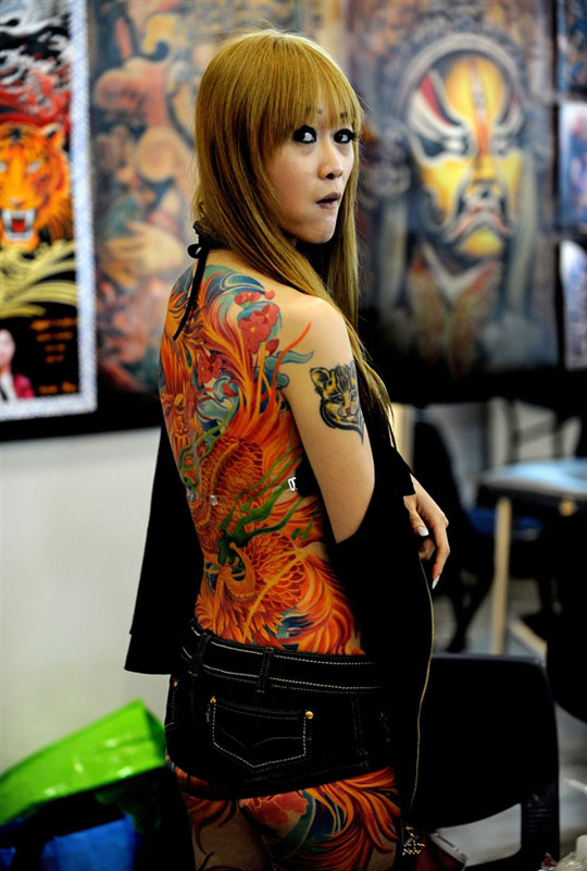 Exhibition of tattoos and body art in Sydney