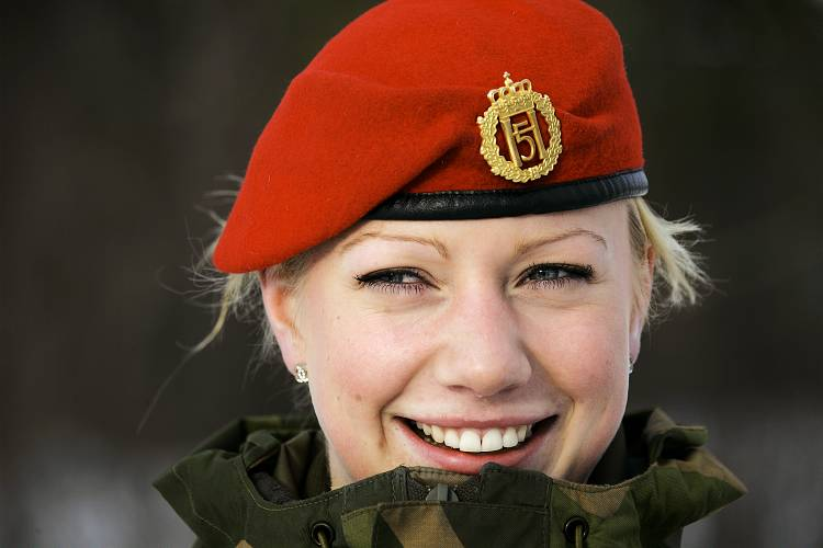 Woman in military uniform, Norway