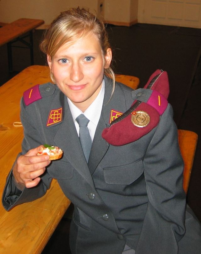 Woman in military uniform, Switzerland