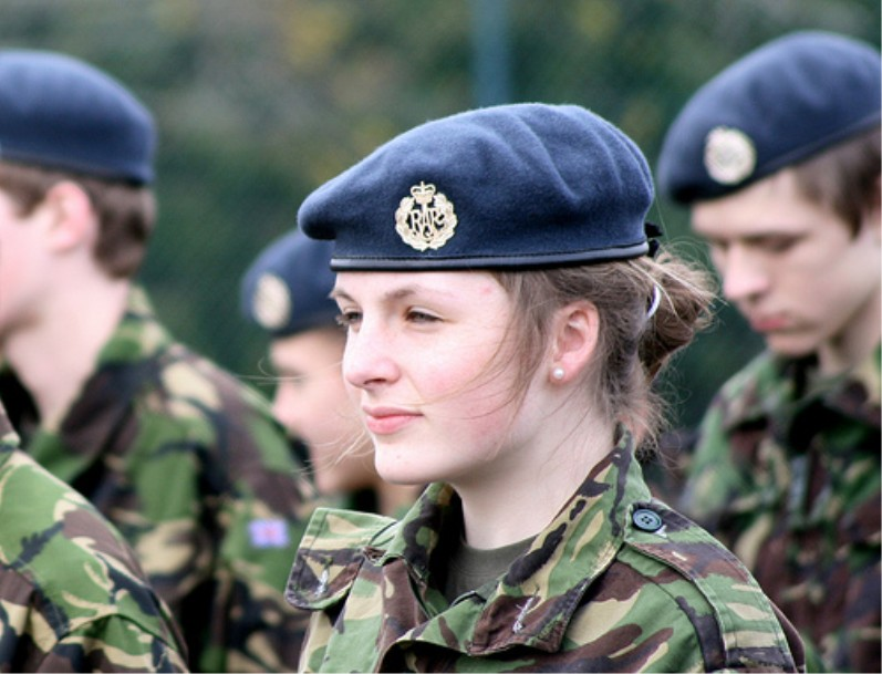 Woman in military uniform, United Kingdom