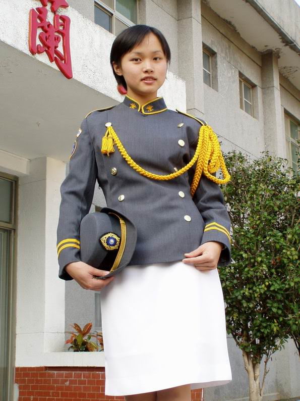 Woman in uniform, Taiwan