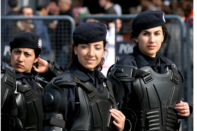 Women in military uniform, Turkey