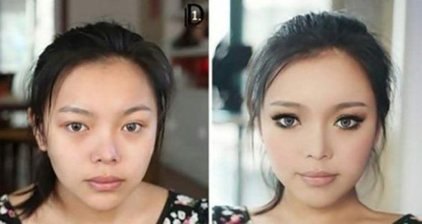 Before and after the makeup 6