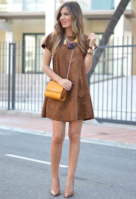 Elegant brown dresses 1