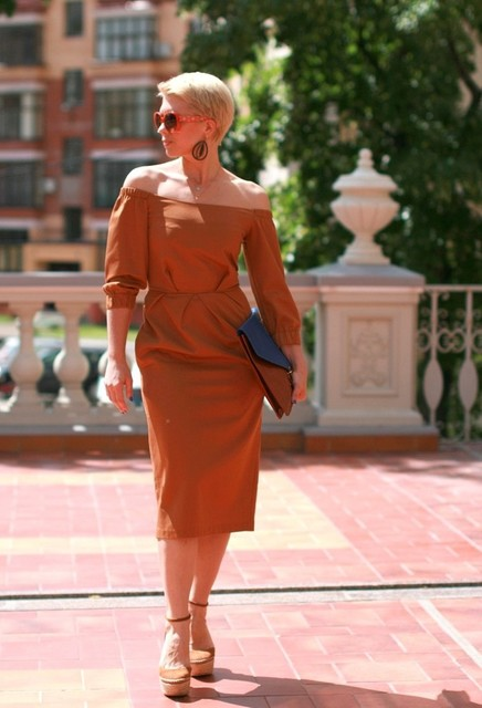 Elegant brown dresses 5
