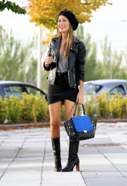 Fashionable black female skirts 2