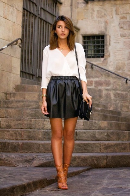 Fashionable black female skirts 5
