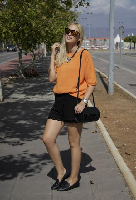 Fashionable orange female blouses  1