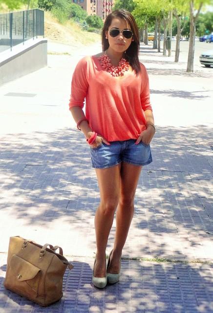 Fashionable orange female blouses  2