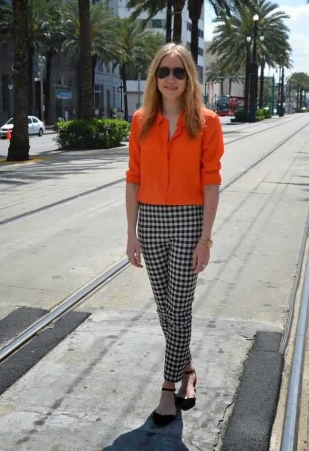 Fashionable orange female blouses  4
