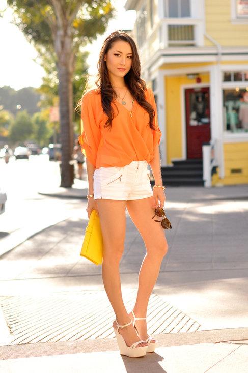 Fashionable orange female blouses  5