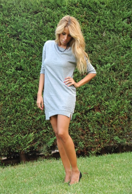 Grey trendy female dress 3